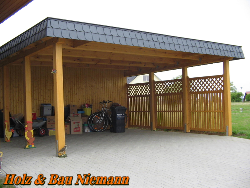 holz bau niemann carport. Black Bedroom Furniture Sets. Home Design Ideas